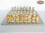 picture of The Battle of Kazan Chessmen with Spanish Lacquered Board [Grey] (4 of 8)
