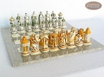 picture of The Battle of Kazan Chessmen with Spanish Lacquered Board [Grey] (5 of 8)