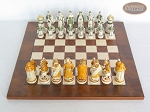 picture of The Battle of Kazan Chessmen with Italian Lacquered Chess Board [Wood] (3 of 8)