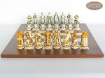 picture of The Battle of Kazan Chessmen with Italian Lacquered Chess Board [Wood] (4 of 8)