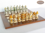 picture of The Battle of Kazan Chessmen with Italian Lacquered Chess Board [Wood] (5 of 8)