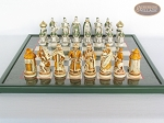 picture of The Battle of Kazan Chessmen with Italian Lacquered Chess Board [Green] (4 of 8)