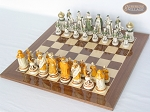 picture of The Battle of Kazan Chessmen with Spanish Lacquered Board [Wood] (2 of 8)