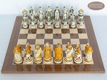 picture of The Battle of Kazan Chessmen with Spanish Lacquered Board [Wood] (3 of 8)