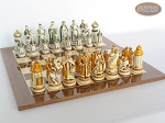 picture of The Battle of Kazan Chessmen with Spanish Lacquered Board [Wood] (5 of 8)
