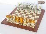 picture of The Battle of Kazan Chessmen with Spanish Traditional Chess Board [Large] (2 of 8)