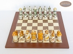 picture of The Battle of Kazan Chessmen with Spanish Traditional Chess Board [Large] (3 of 8)