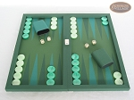 Dal Negro Backgammon Set - Green Cialux - Item: 1084
