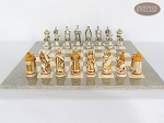 picture of The Battle of Kazan Chessmen with Large Spanish Lacquered Chess Board [Grey] (3 of 6)
