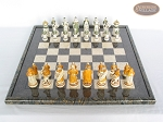 picture of The Battle of Kazan Chessmen with Italian Lacquered Board [Black] (3 of 8)
