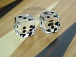 3/8 in. Rounded High Gloss Lucent Dice - Clear (1 pair)