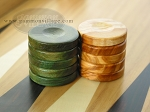 picture of Backgammon Checkers - Olive Wood - Green (1 in. Dia.) - Set of 30 (2 of 2)
