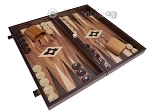 picture of 19-inch Wood Backgammon Set - Walnut with Printed Field (2 of 11)