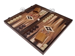 picture of 19-inch Wood Backgammon Set - Walnut with Printed Field (3 of 11)