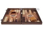 picture of 19-inch Wood Backgammon Set - Walnut with Printed Field (4 of 11)