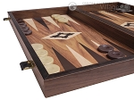picture of 19-inch Wood Backgammon Set - Walnut with Printed Field (5 of 11)
