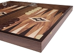 picture of 19-inch Wood Backgammon Set - Walnut with Printed Field (6 of 11)