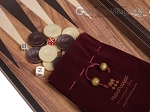 picture of 19-inch Wood Backgammon Set - Walnut with Printed Field (7 of 11)