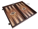 picture of 19-inch Wood Backgammon Set - Walnut with Printed Field (8 of 11)