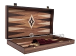 picture of 19-inch Wood Backgammon Set - Walnut with Printed Field (9 of 11)