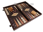 picture of 19-inch Wood Backgammon Set - Wenge with Printed Field (2 of 11)