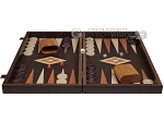 picture of 19-inch Wood Backgammon Set - Wenge with Printed Field (4 of 11)