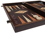 picture of 19-inch Wood Backgammon Set - Wenge with Printed Field (5 of 11)