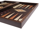 picture of 19-inch Wood Backgammon Set - Wenge with Printed Field (6 of 11)