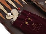 picture of 19-inch Wood Backgammon Set - Wenge with Printed Field (7 of 11)