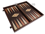 picture of 19-inch Wood Backgammon Set - Wenge with Printed Field (8 of 11)