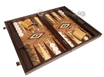 picture of Walnut Root Backgammon Set - Large - Walnut Root Field (2 of 11)
