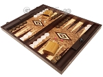 picture of Walnut Root Backgammon Set - Large - Walnut Root Field (3 of 11)