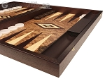 Walnut Root Backgammon Set - Large - Walnut Root Field