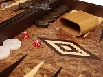 picture of Walnut Root Backgammon Set - Large - Walnut Root Field (8 of 11)