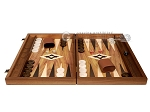 picture of 19-inch Wood Backgammon Set - Walnut with Printed Field and Side Racks (4 of 11)