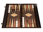 19-inch Wood Backgammon Set - Wenge with Printed Field and Side Racks - Item: 3900