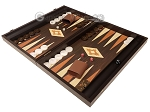picture of 19-inch Wood Backgammon Set - Wenge with Printed Field and Side Racks (3 of 11)