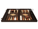 picture of 19-inch Wood Backgammon Set - Wenge with Printed Field and Side Racks (4 of 11)