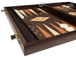 picture of 19-inch Wood Backgammon Set - Wenge with Printed Field and Side Racks (5 of 11)