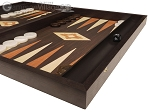 picture of 19-inch Wood Backgammon Set - Wenge with Printed Field and Side Racks (6 of 11)