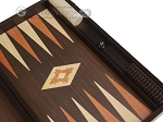 picture of 19-inch Wood Backgammon Set - Wenge with Printed Field and Side Racks (7 of 11)