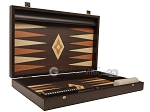 picture of 19-inch Wood Backgammon Set - Wenge with Printed Field and Side Racks (9 of 11)