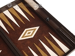 picture of 19-inch Wood Backgammon Set - Wenge with Brown Leatherette Field (7 of 11)