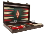 picture of 19-inch Wood Backgammon Set - Wenge with Green Leatherette Field (9 of 11)