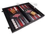 picture of Leatherette Backgammon Set - Large - Black Croco Field (2 of 12)