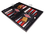 picture of Leatherette Backgammon Set - Large - Black Croco Field (3 of 12)