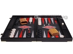 picture of Leatherette Backgammon Set - Large - Black Croco Field (4 of 12)