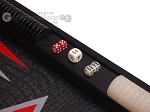 picture of Leatherette Backgammon Set - Large - Black Croco Field (7 of 12)