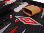 picture of Leatherette Backgammon Set - Large - Black Croco Field (8 of 12)