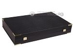 picture of Leatherette Backgammon Set - Large - Black Croco Field (11 of 12)